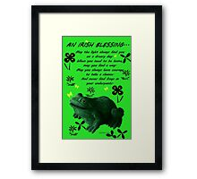 Froggy in Clover... or Shamrocks? Framed Print