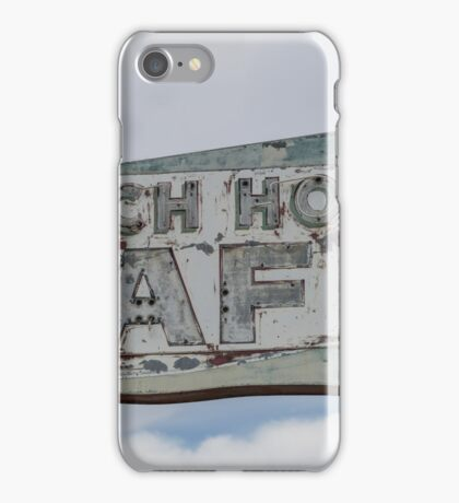 Ranch House Cafe Sign, Vaughan, New Mexico iPhone Case/Skin