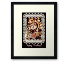So Many Dolls! A Birthday Greeting Framed Print
