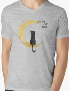 My Moon Mens V-Neck T-Shirt