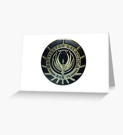 Battlestar Galactica Badge Greeting Card