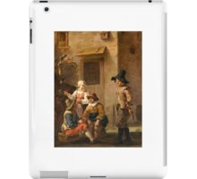 John of the Bent , four persons be discussed in the courtyard of an Italian house iPad Case/Skin