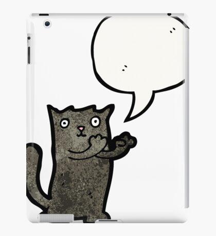 black cat cartoon iPad Case/Skin
