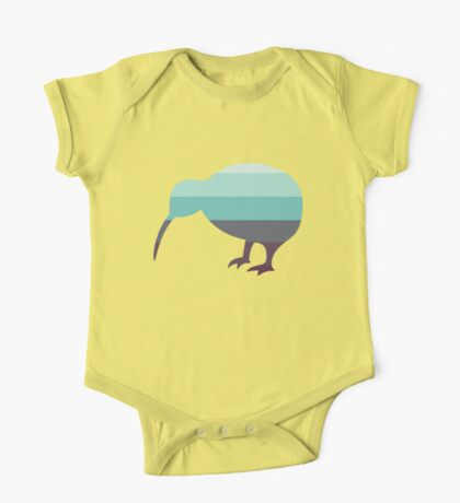 Kiwi in Saltwater Swimsuit Ombre One Piece - Short Sleeve