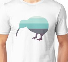 Kiwi in Saltwater Swimsuit Ombre Unisex T-Shirt