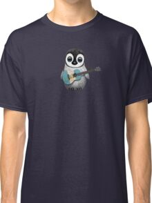 Baby Penguin Playing Guatemalan Flag Guitar Classic T-Shirt