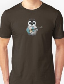 Baby Penguin Playing Guatemalan Flag Guitar Unisex T-Shirt