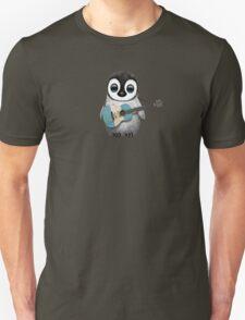 Baby Penguin Playing Guatemalan Flag Guitar Unisex T-Shirt