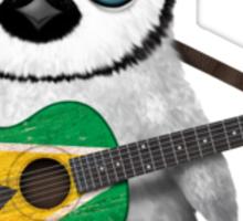 Baby Penguin Playing Guyanese Flag Guitar Sticker