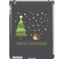 Cute hedgehog Christmas Scene iPad Case/Skin