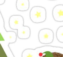 Cute hedgehog Christmas Scene Sticker