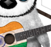 Baby Penguin Playing Indian Flag Guitar Sticker