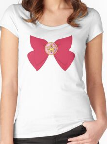 Crystal Star Pendant Women's Fitted Scoop T-Shirt