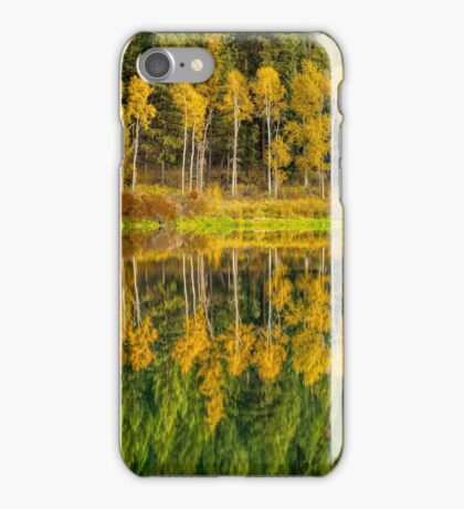 Autumn Reflections in the Pend Oreille River  iPhone Case/Skin