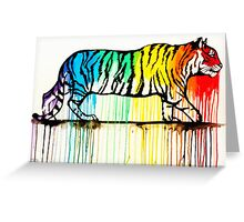 Rainbow Tiger Greeting Card
