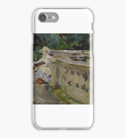 John Singer Sargent    Fountain, with Girl Sketching iPhone Case/Skin