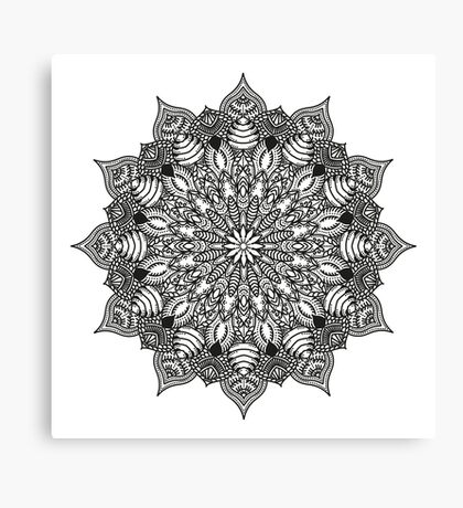 Henna style Mandala  Canvas Print