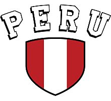 Peru Supporters Photographic Print