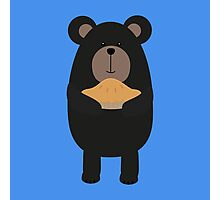 Black Bear with pie Photographic Print