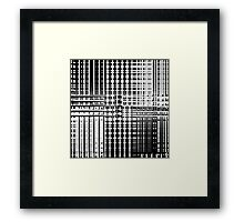 Random Mono Check Framed Print