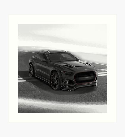 Ford Mustang SUV by Artrace. Art Print