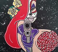 Sugar Skull Jessica Rabbit by Katherine  OGane
