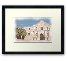 The Alamo Facade Framed Print