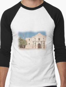 The Alamo Facade Men's Baseball ¾ T-Shirt