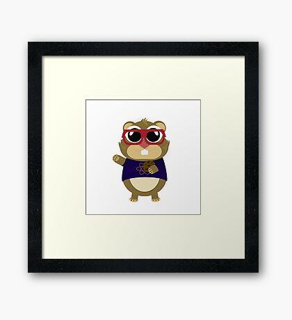 Hamster Cosh Framed Print