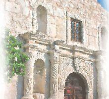 Alamo Facade by shutterbug941