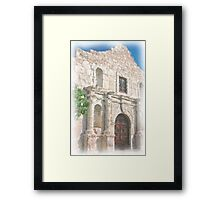 Alamo Facade Framed Print