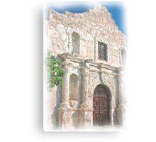Alamo Facade Canvas Print