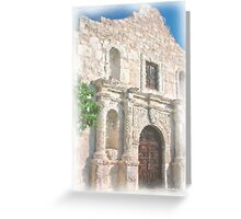 Alamo Facade Greeting Card