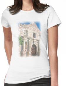 Alamo Facade Womens Fitted T-Shirt