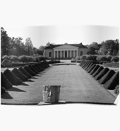 Uppsala Botanical Gardens, Black and White Poster