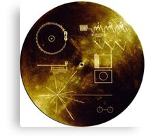 Voyager Golden Record Canvas Print