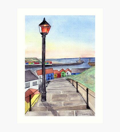 The 199 Steps at Sunset Art Print