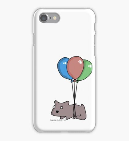 Balloon Hamster Frank by Panel-O-Matic iPhone Case/Skin