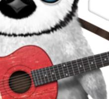 Baby Penguin Playing Maltese Flag Guitar Sticker