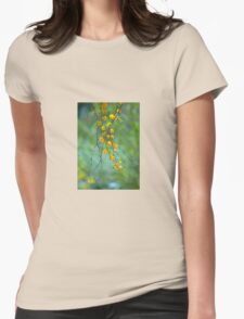 Yellow Tree Blossoms Womens Fitted T-Shirt