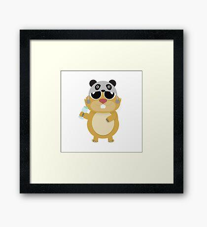 Hamster Heapify Framed Print
