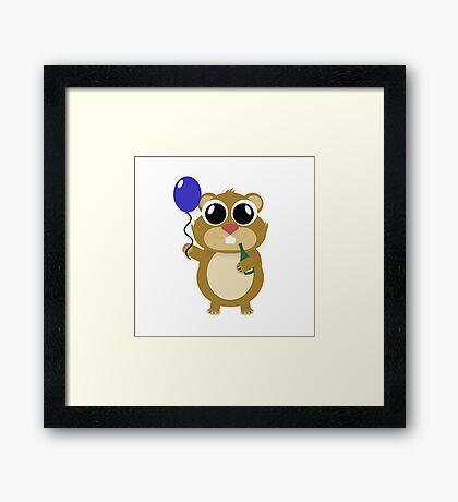 Hamster Hezy Framed Print