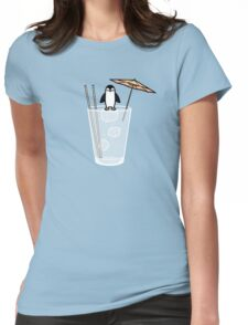 Penguin on the rocks Womens Fitted T-Shirt