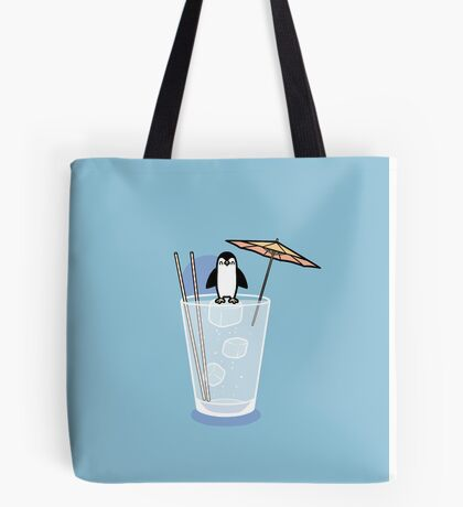 Penguin on the rocks Tote Bag