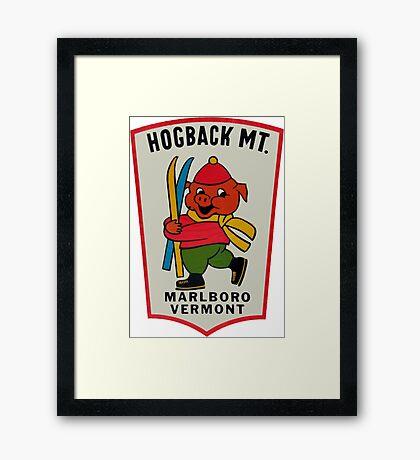 Hogback Mountain Marlboro Vermont Vintage Travel Decal Framed Print