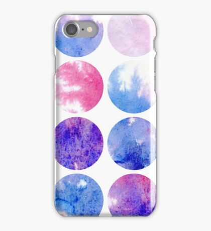 Watercolor spots round shape  iPhone Case/Skin