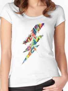 graphic lighting Women's Fitted Scoop T-Shirt