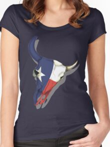 Texas Skull Women's Fitted Scoop T-Shirt