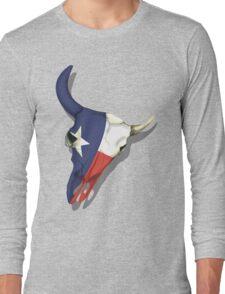 Texas Skull Long Sleeve T-Shirt