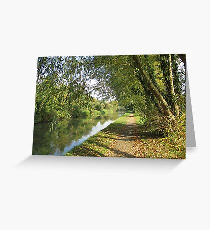 Autumn Towpath Greeting Card